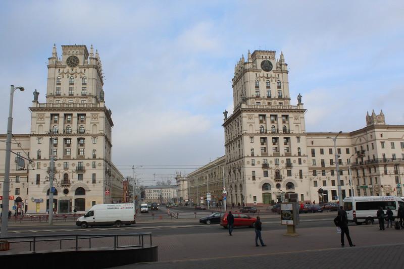 Vulica Babrujskaja view from Minsk Railway Station
