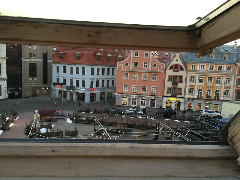 View from bedroom : Domo Hostel, AirBnB Accommodation, Riga Old Town