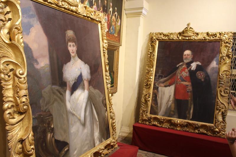 Portraits of King Edward VII & Queen Alexandra – Mysore Palace