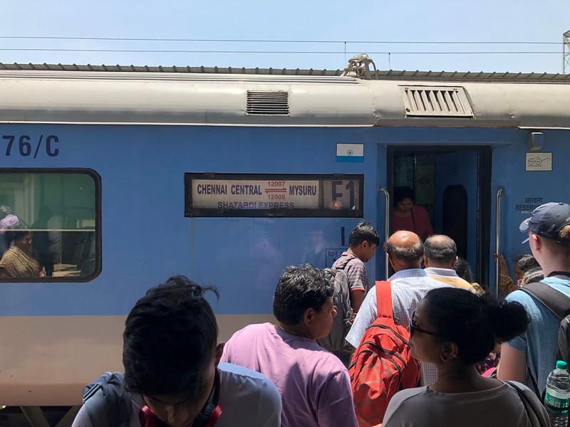 Boarding the train to Mysuru/Mysore at Bengaluru City Railway Station
