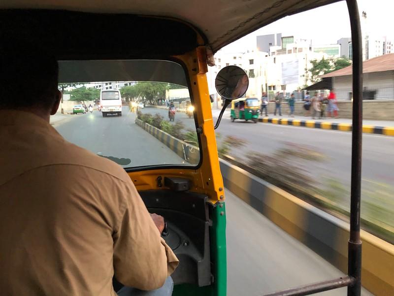 "Auto rickshaw or ""tuk-tuk"" ride in Electronic City Bengaluru"