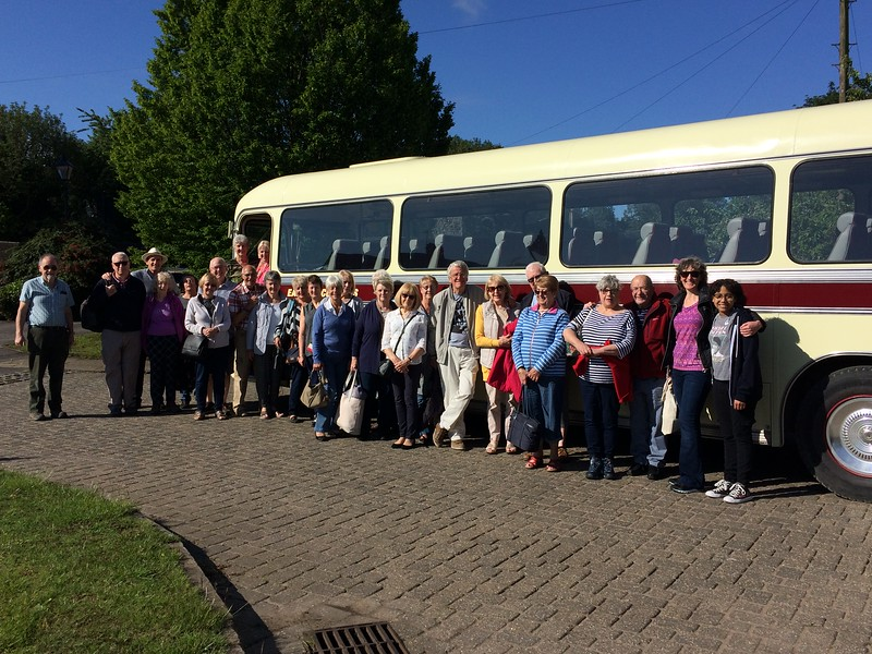 Tour Party departing Linby