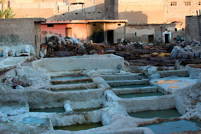 Tanneries. To learn more: http://en.wikipedia.org/wiki/Tannery