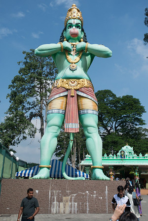 Hanuman statue at Batue caves