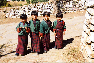 School girls in Paro