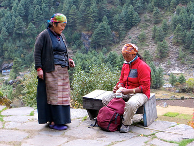 Tibetans are very conservative in their dress, and though some have taken to wearing Western clothes, traditional styles still abound. Women wear dark-colored wrap dresses over a blouse, and a colorfully striped, woven wool apron signals that she is married.