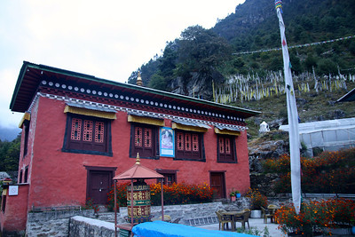 We spent the night next to this monastery in Ghat (2600m).