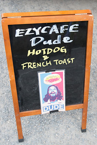 One of the strangest food signs I've seen.  Is that Jesus?