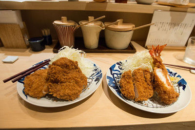 Fried pork and shrimp in Tokyo.  This dish is awesome