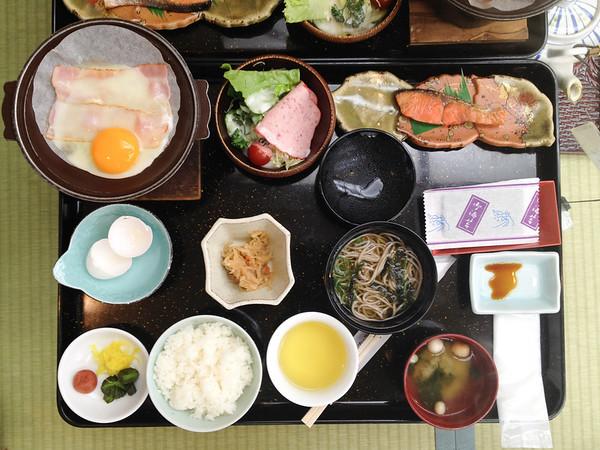 Breakfast at the Rakucho in Kyoto