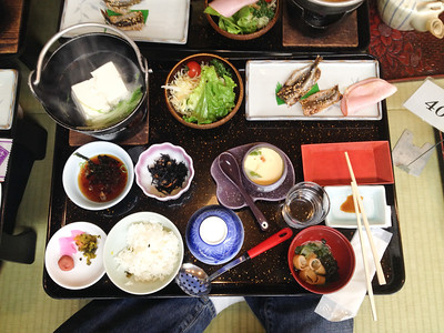 Another breakfast at the Rakucho in Kyoto