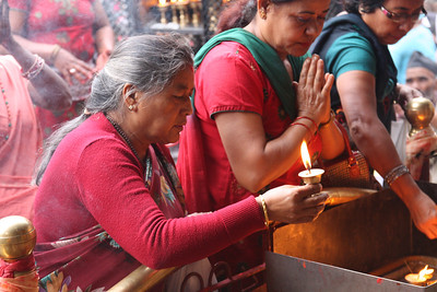 It is the last day of  the 15 day festival Dashain. (Hindu festival) http://en.wikipedia.org/wiki/Dasain Dashain commemorates the victories of the god and goddesses over the demons. It symbolizes the victory of the good over the evil.