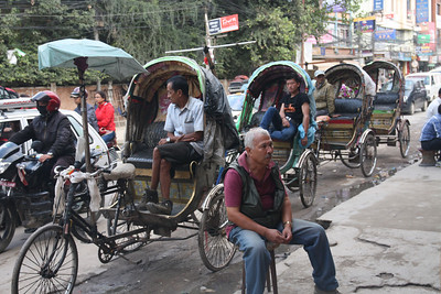 Rickshaws waiting for tourists