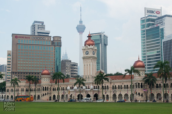 Merdeka Square - with the Petronas Towers, Sultan Abdul Samad Building, and the KL Tower