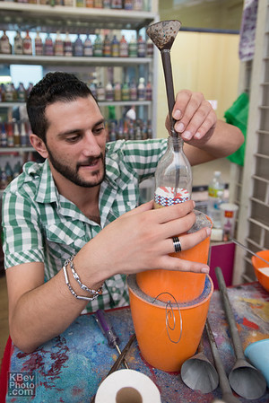 Ehab, a Turk, who was in KL making some really cool sand bottles