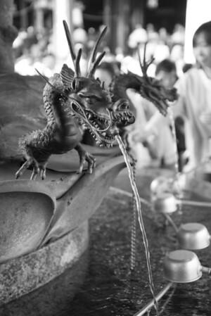 Purification fountain at the Senso-ji Temple