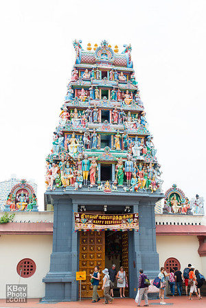 The gopuram at the Sri Mariamman Temple