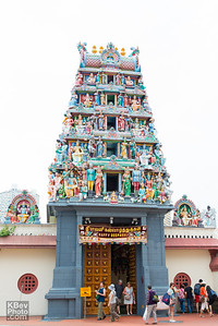 The gopuram at the Sri Mariamman Temple