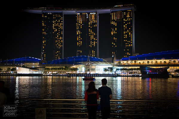 Couple overlooking the Marina Bay Sands