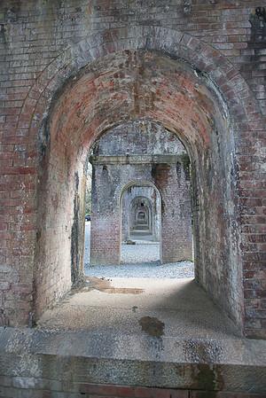 Under the aqueduct