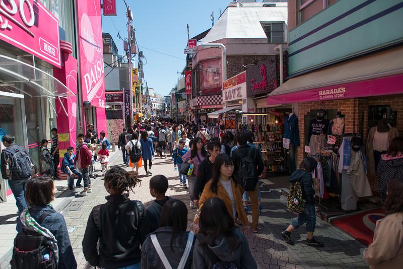 The craziness of Takeshita-Dori