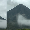 The clouds move fast near the volcano and also do odd things.  In this 60 second sequence, you can see the clouds roll IN and UP the face of  the volcano
