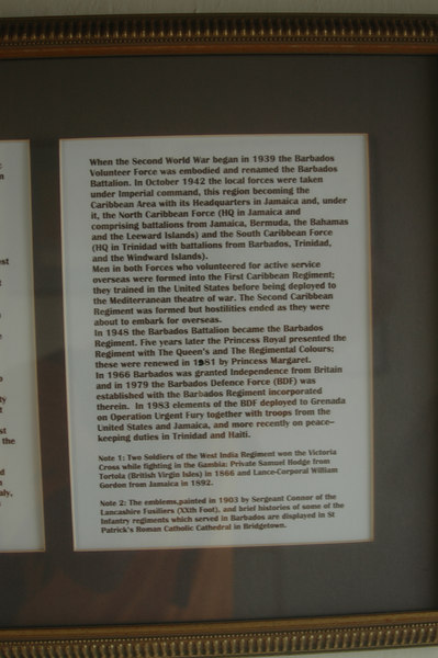 On the wall at Gun Hill Signal Station. (3 of 3)