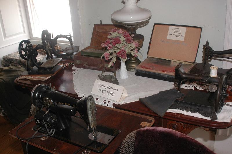 Inside the Sunbury Plantation House.