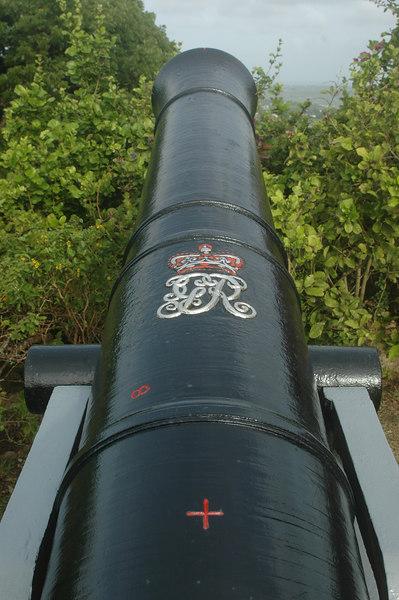 Cannon at Gun Hill Signal Station.