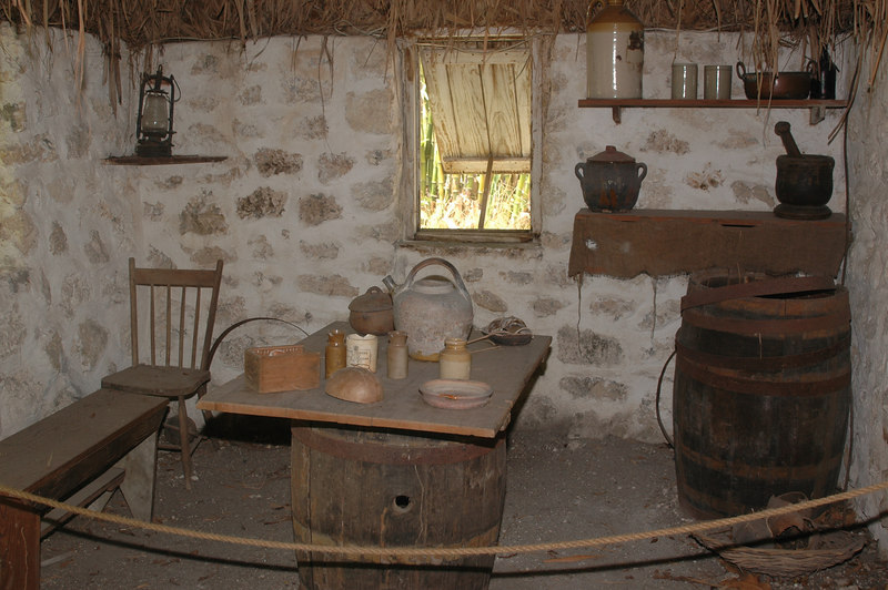 The Heritage village had replicas of African slave huts.