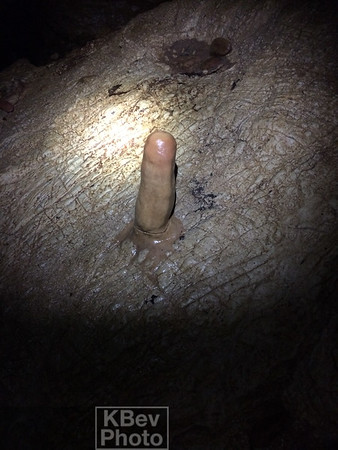 A natural formation in the cave.  You can't make this stuff up.