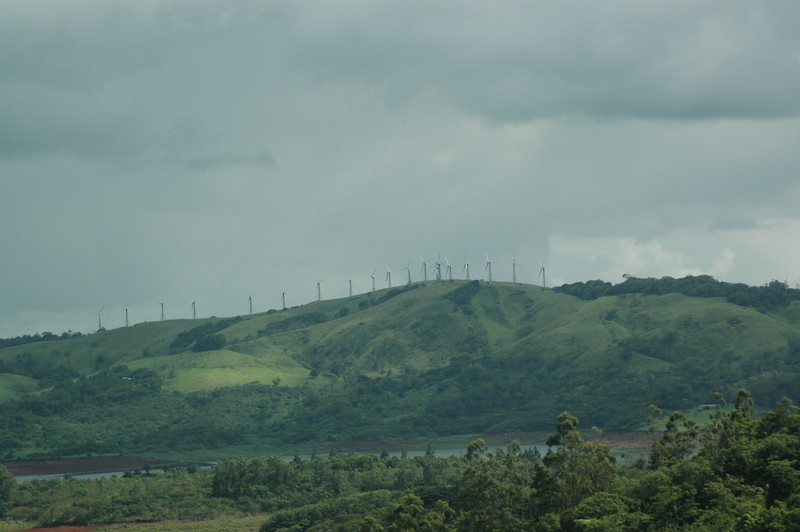On the way to Playa Conchal, we saw a wind farm.  I had never seen one before.