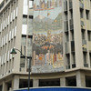 The mural on the side of this bank in Guayaquil depicts the four climate zones within Ecuador