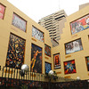 The side of this bank in Guayaquil had huge murals of art from the Museo Antropologico y de Arte Contemoraneo