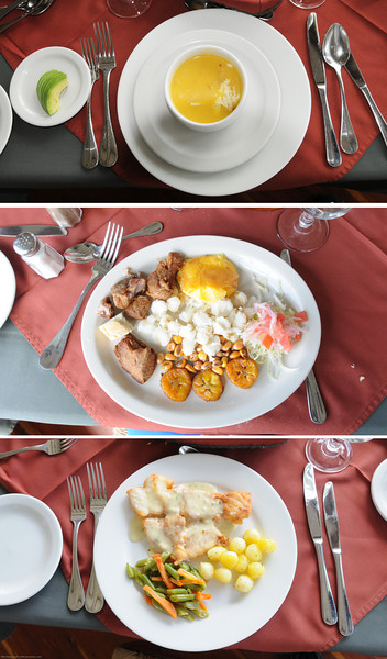 At El Crator, on the rim of the Pululahua volcano, we had a traditional Ecudoran lunch overlooking the cloud.