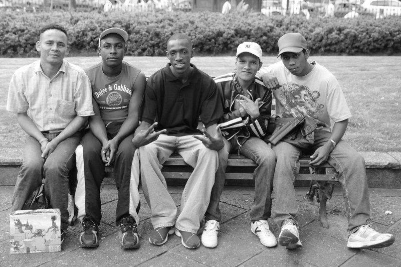 Nelson, Yimmy, Anderson, Christian and Israel were just chillin' in the park and asked me to take a photo.  We had fun clowning about the poses (their English was actually worse than my Spanish).  This was my favorite of the set.
