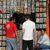 Throughout Guayquil, vendors had huge assortments of bootlegged movies and music.  This was a smaller booth.