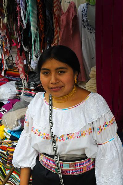 Girl in Quito market