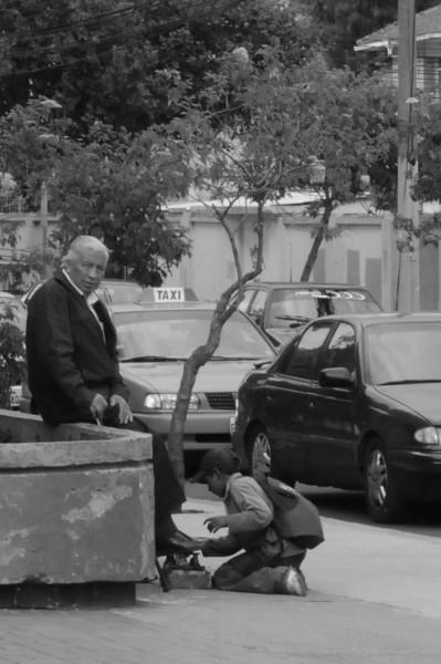 Shoe shine boy in Quito