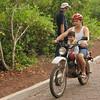 Riding with child in Santa Cruz (Galapagos)
