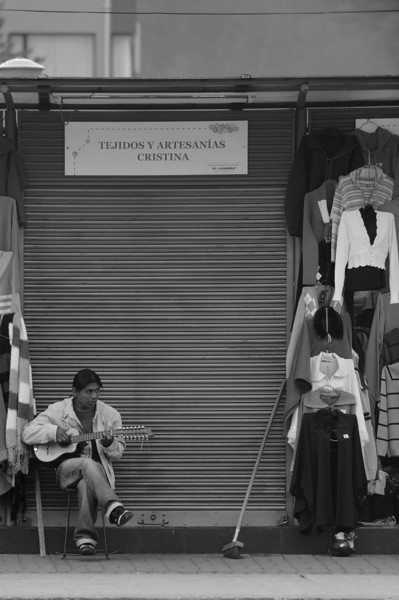 Relaxing after the market closed in Quito