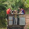 Waving bye after a birthday party in the Santa Cruz Highlands (Galapagos)