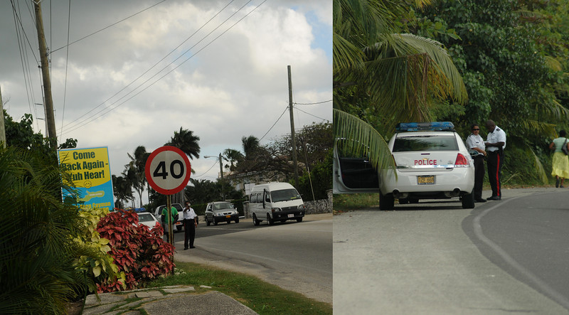 """On my """"walk"""" down West Bay Road.  I actually saw a speed trap!  Given the 2 lane """"highway"""" and lack of staightaways, I thought it was worth a shot.  Further along my walk, i realized they actually caught someone!"""