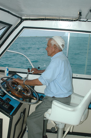 The man himself - Captain Marvin.  He owned a ton of boats in his Caymanian Empire.  On this day, the 90-somthing year old Captain was the actual Captain on our all day ride!