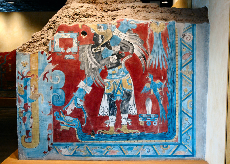Mural in the anthropology museum