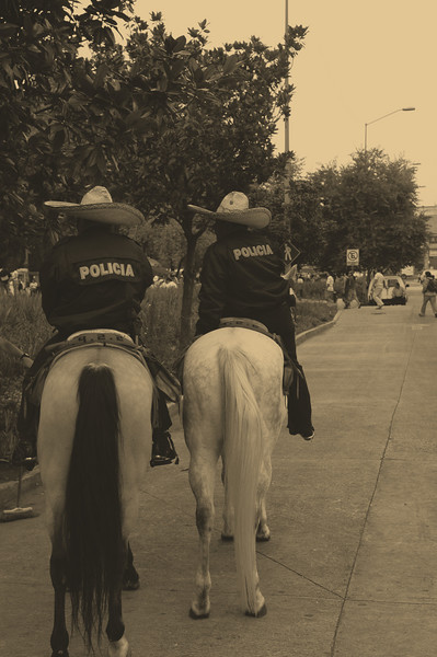 For some reason, Mounted Police in Mexico City look more authentic than they do in Chicago