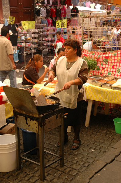 Cooking in Zocalo market