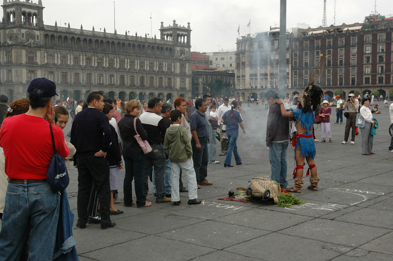 Right outside a huge cathedral, people line up to participate in this ritual.  The irony was great.