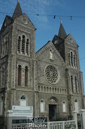 Here's a Catholic Church in Basseterre.