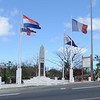 French side/ Dutch side memorial - celebrating the agreement that divided the island